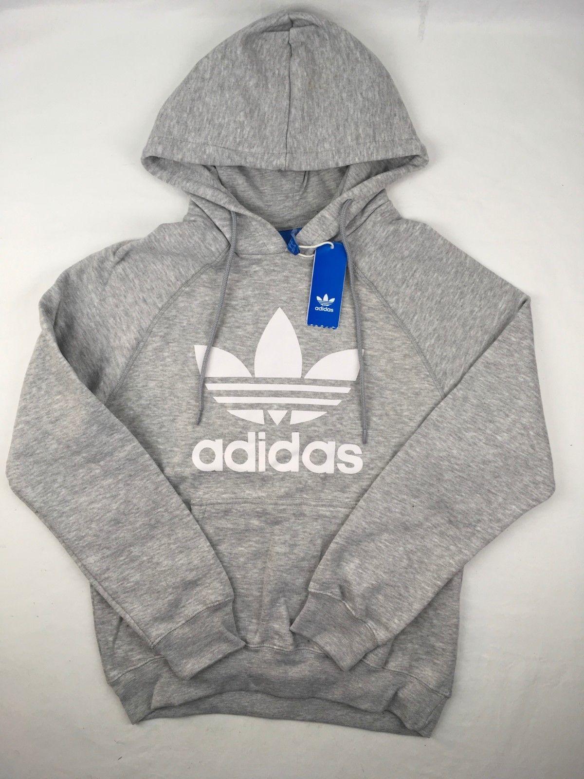 4f3612449ce9 Mens Adidas Hoodie Trefoil Sweatshirt Pullover Hoodie Navy, Black ...