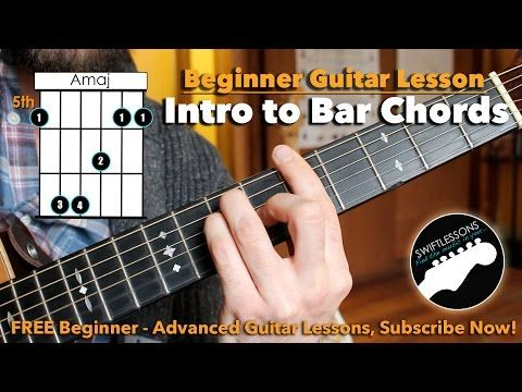 How To Really Play Bar Chords A Beginner Guitar Tutorial Youtube