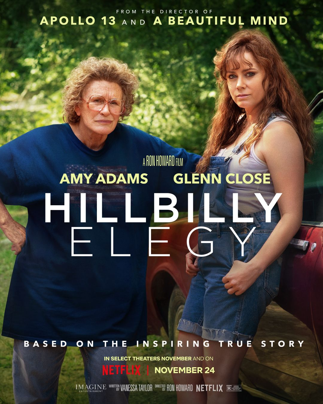 Hillbilly Elegy Netflix Póster Oficial Glenn Close Director De Fotografía Peliculas
