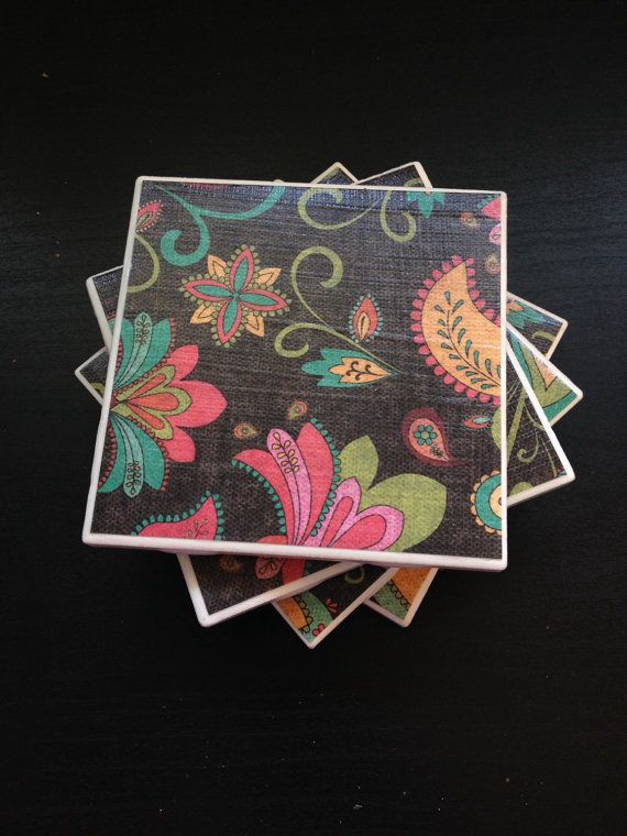 Coasters-set of 4 by CoasterQween on Etsy