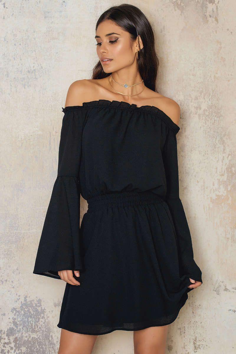 51ad0f6bce0 Wide Sleeve Off Shoulder Dress | dresses. | Shoulder dress, Dresses ...