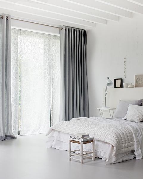 White Grey Bedroom Interior Home Bedroom Bedroom Design