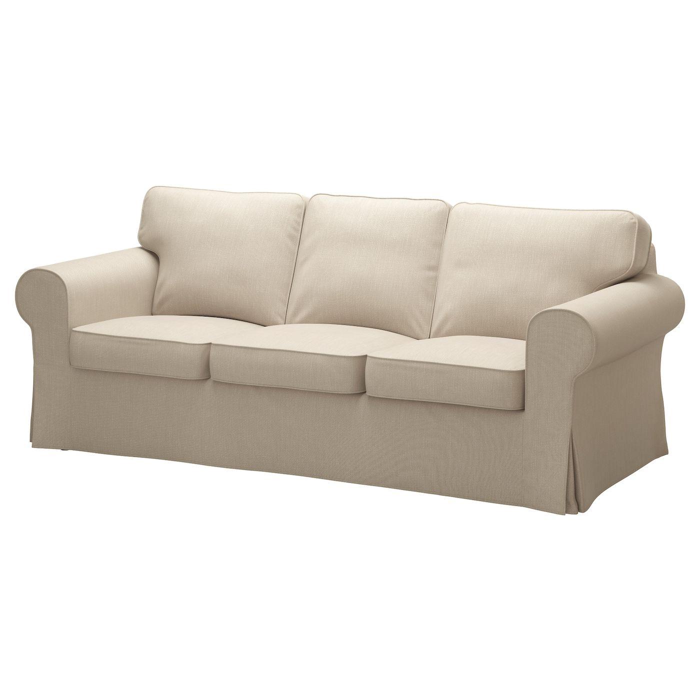 Ikea Ektorp Sofa Nordvalla Dark Beige In 2020 Ektorp Sofa Ektorp Sofa Cover Three Seat Sofa