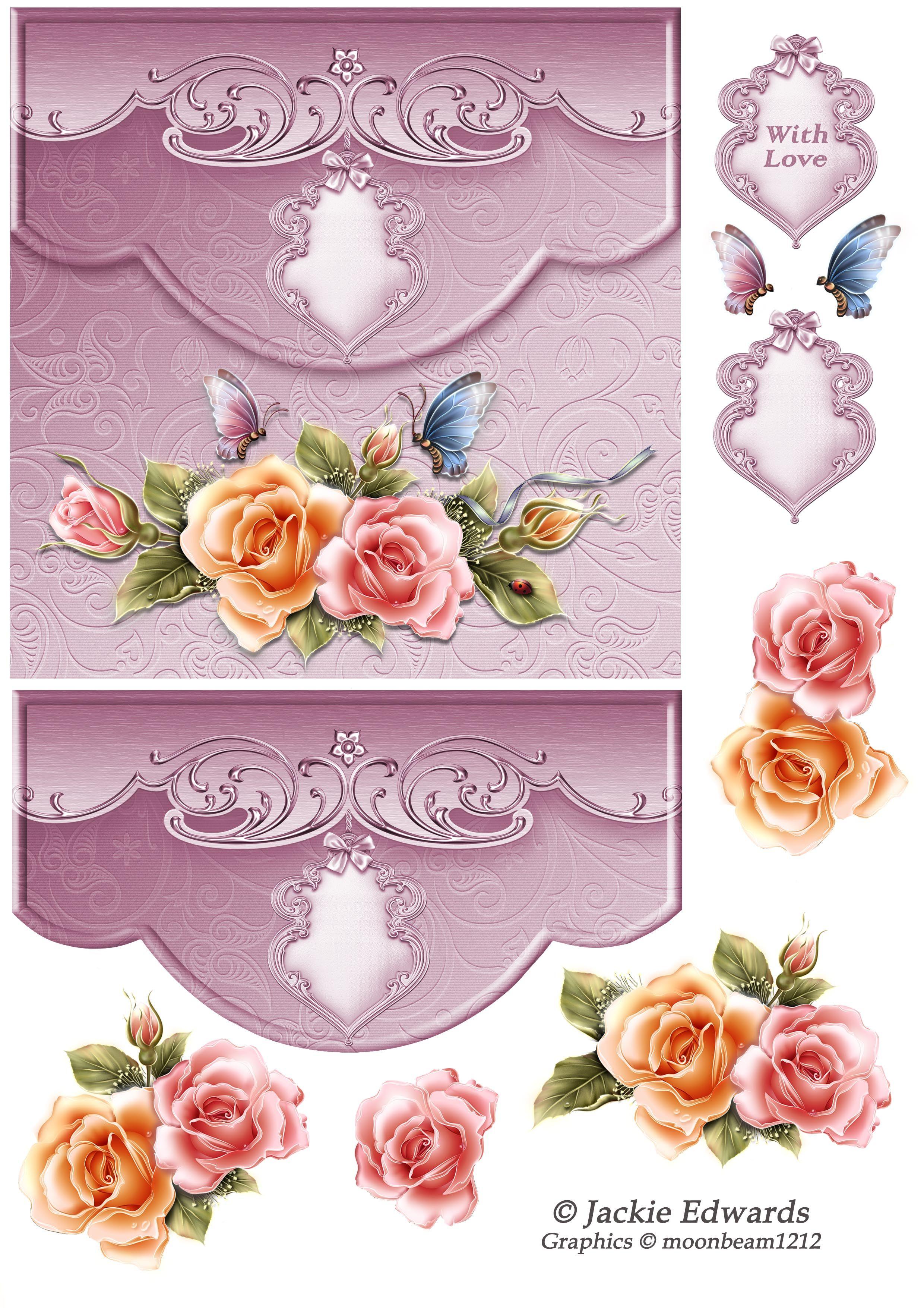 BEAUTIFUL 3D WEDDING//ANNIVERSARY CARD TOPPER