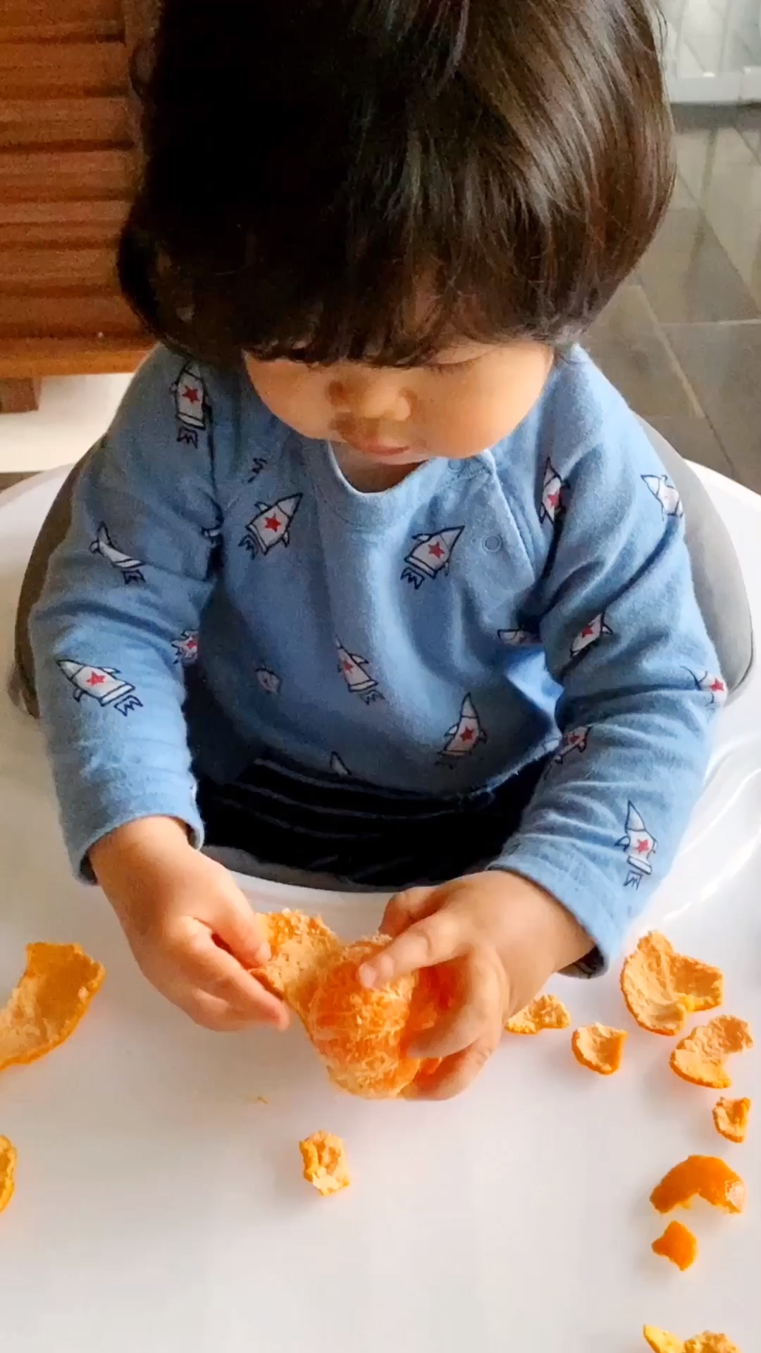 Peeling Oranges Fine Motor Skills Activity