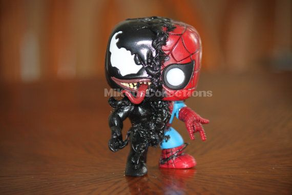 Marvel Disney Venom Spiderman Custom Funko Pop Figure