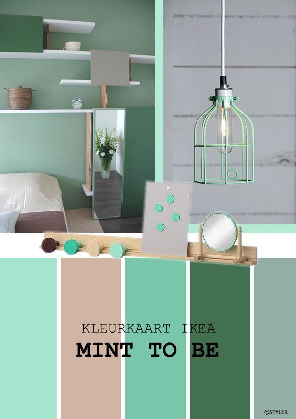 MInt to be kleurkaart. Voor IKEA slaapkamer. | claudia | Pinterest