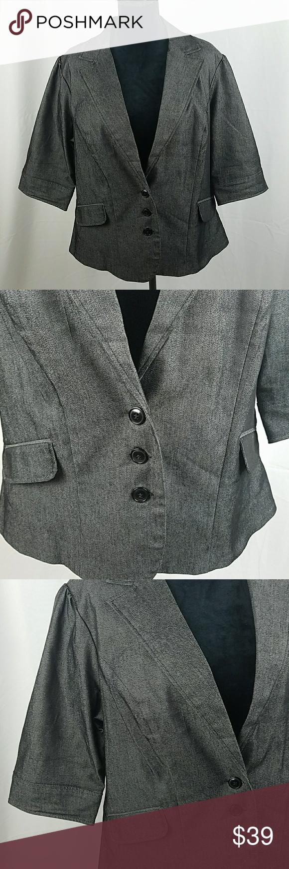 9e1d1e7b694 TORRID plus size women 2X gray denim jacket TORRID plus size women ...