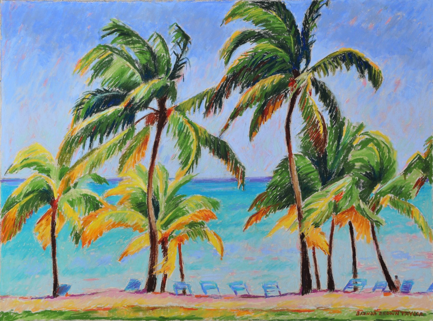 Buccaneer Beach #art - I was inspired to paint this beautiful ...