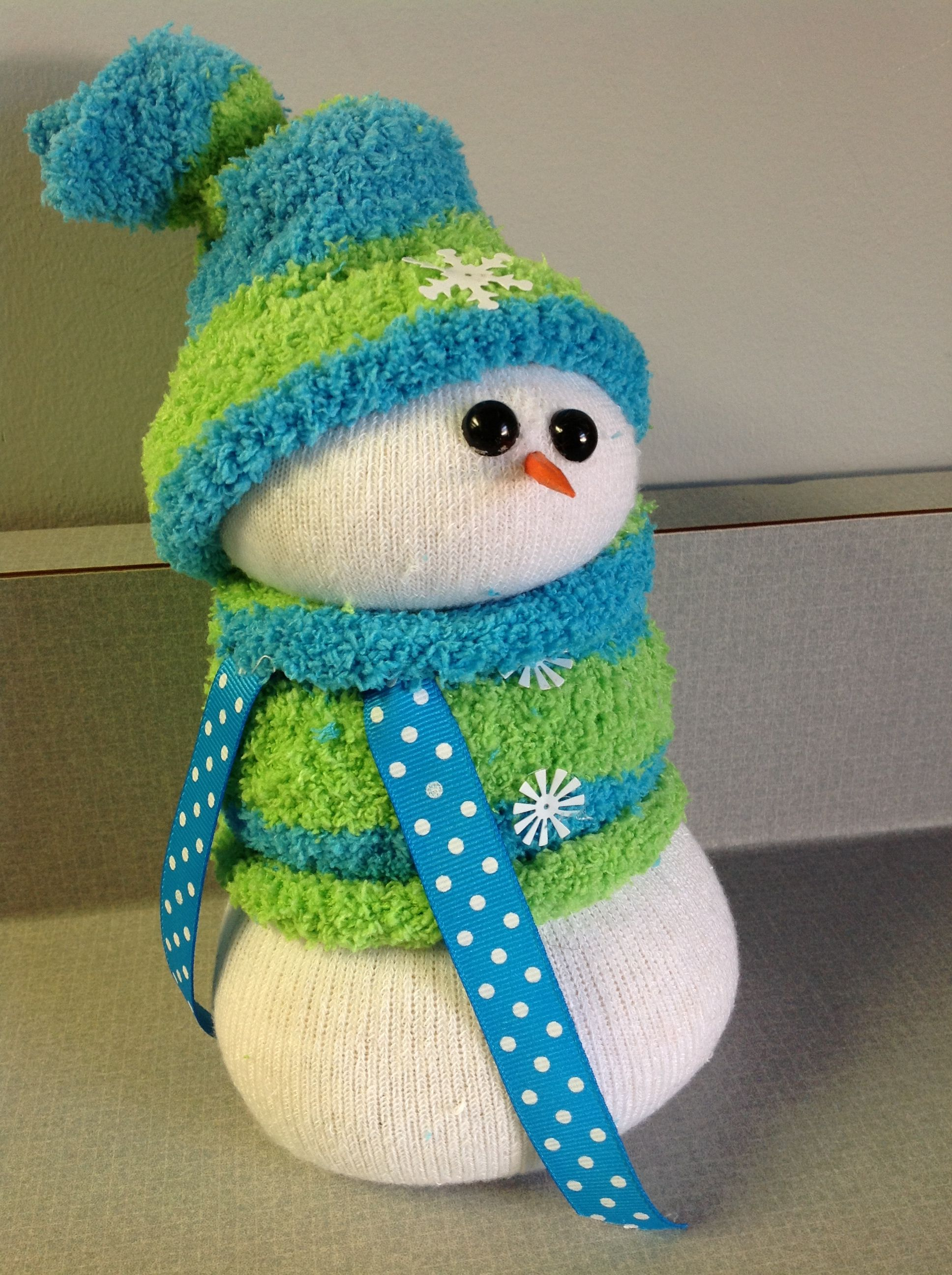 sock snowman love the fuzzy sock and colors idea foods