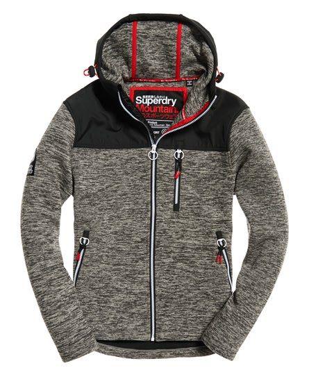 Details about Superdry Men's Orange Label Mountain Zip Hood Sweat Jacket Storm Grey Grit