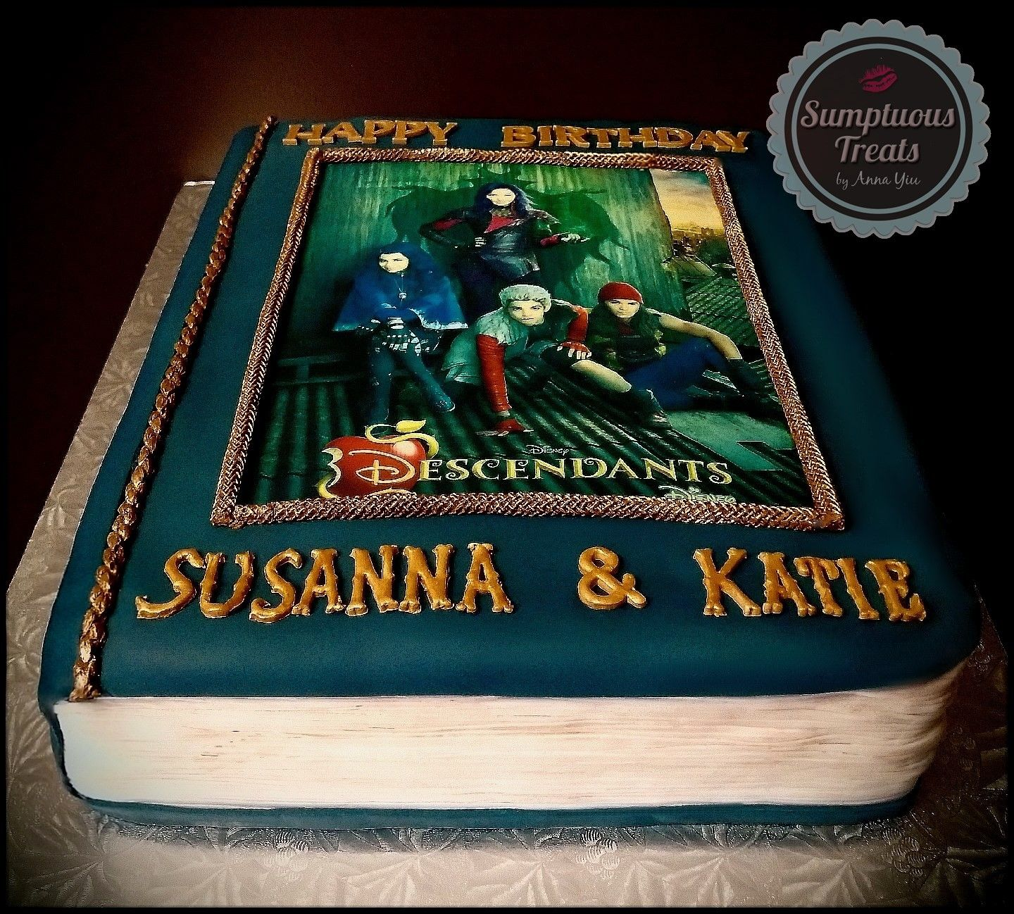 Disney Descendants Book Cake CustomMadeToOrder Cakes Desserts