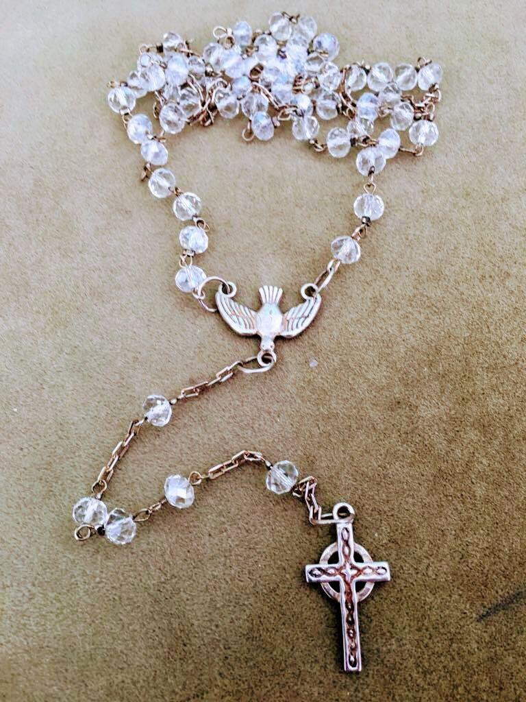 53b2f875beb2 Rosario Cristal y plata 925 | joyas con significado - plata 925 ...