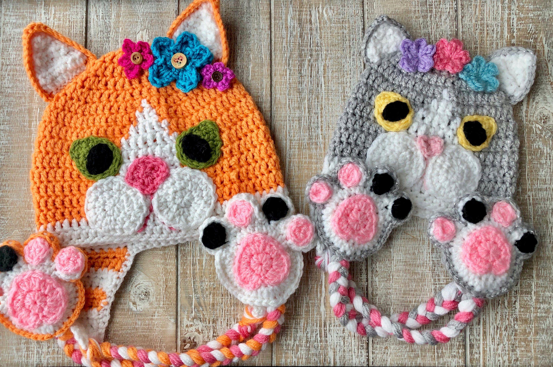 Crochet Pattern Only Tuxedo Kitten Crochet Hat For Infants Etsy Crochet Teddy Bear Pattern Cat Hat Pattern Crochet Cat Hat
