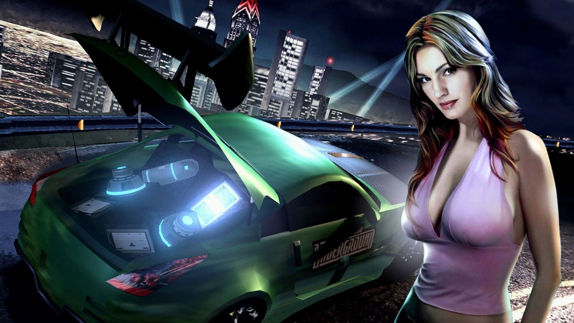 Download Wallpaper 1920x1080 Nfs Need For Speed Girl Sunset