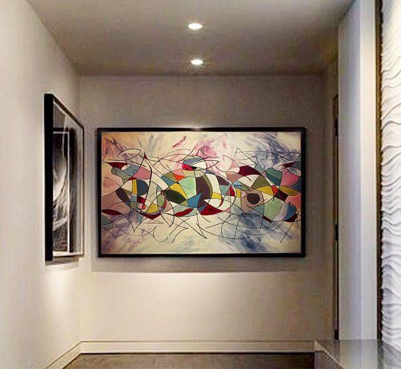 tableau peinture abstrait color acrylique xxl 3d paint art abstract paintings pinterest. Black Bedroom Furniture Sets. Home Design Ideas