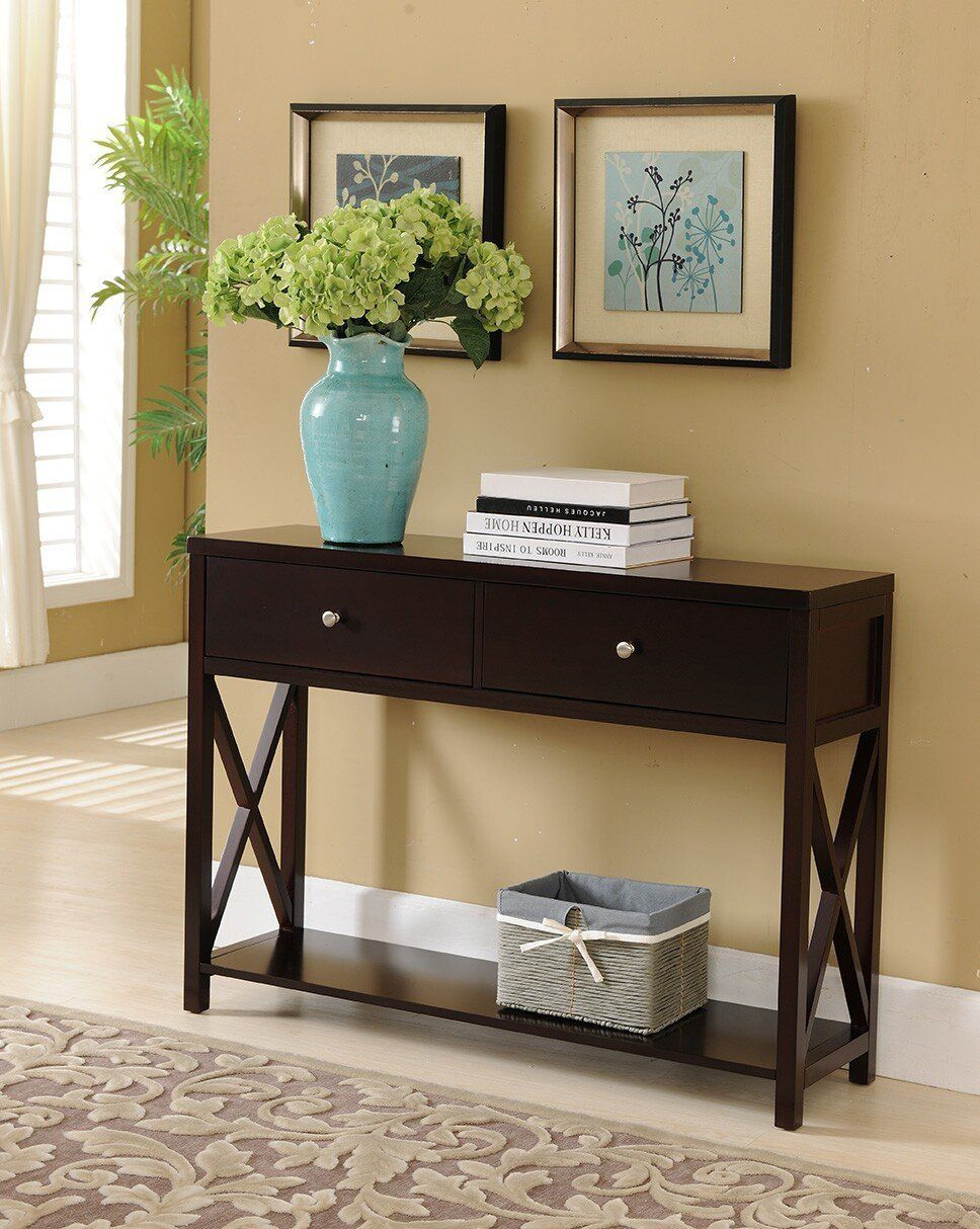 Amazon Com Kings Brand Cherry Finish Wood Entryway Console Sofa Occasional Table With Drawe Entryway Table With Storage Entryway Console Table Sofa End Tables