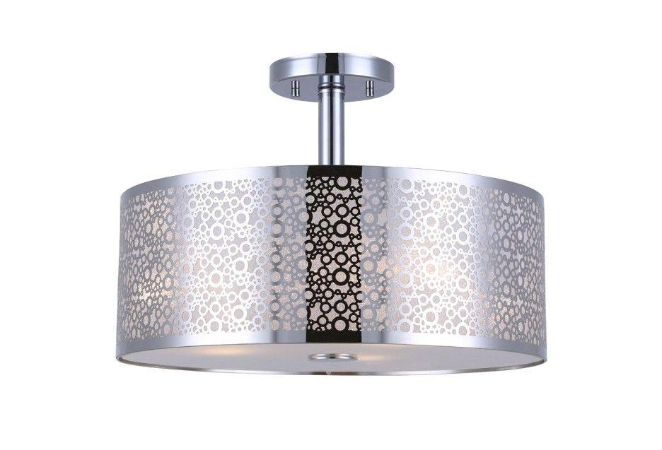 Decoration Ideas Luxury Modern Semi Flush Mount Ceiling Light With Silver Metallic Flush Mount Ceiling Light Fixtures Glass Diffuser Flush Mount Ceiling Lights