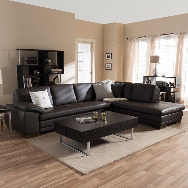 Brown Leder Schnitt Sofa - Lounge Sofa   Brown sectional ...