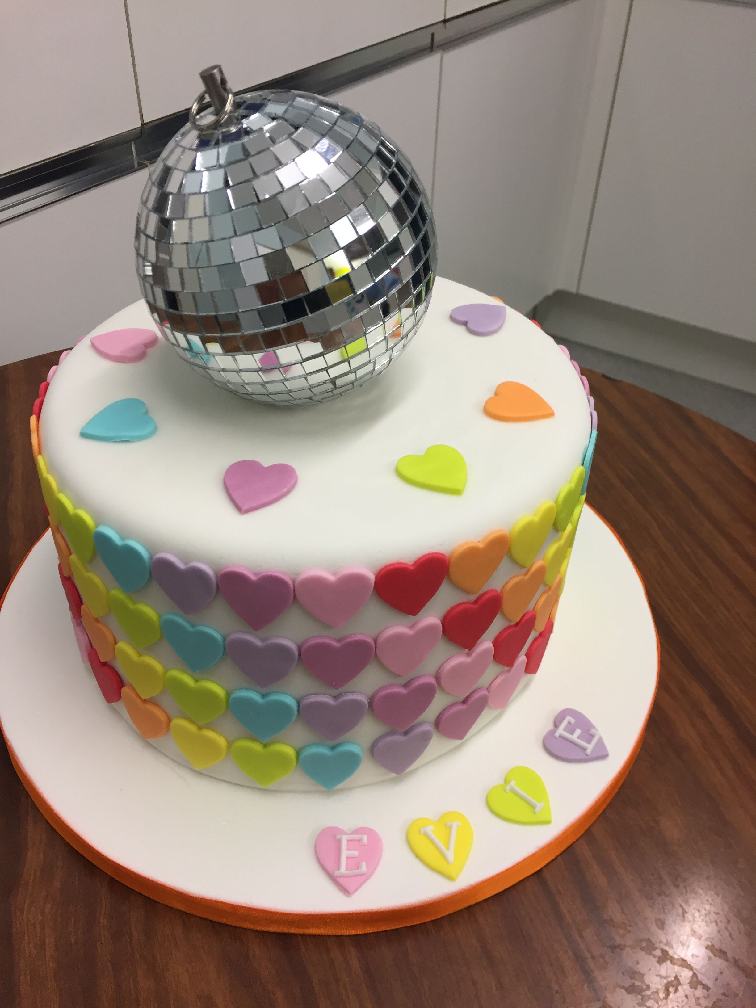 Disco Birthday Cake Kids Party 8th Themed