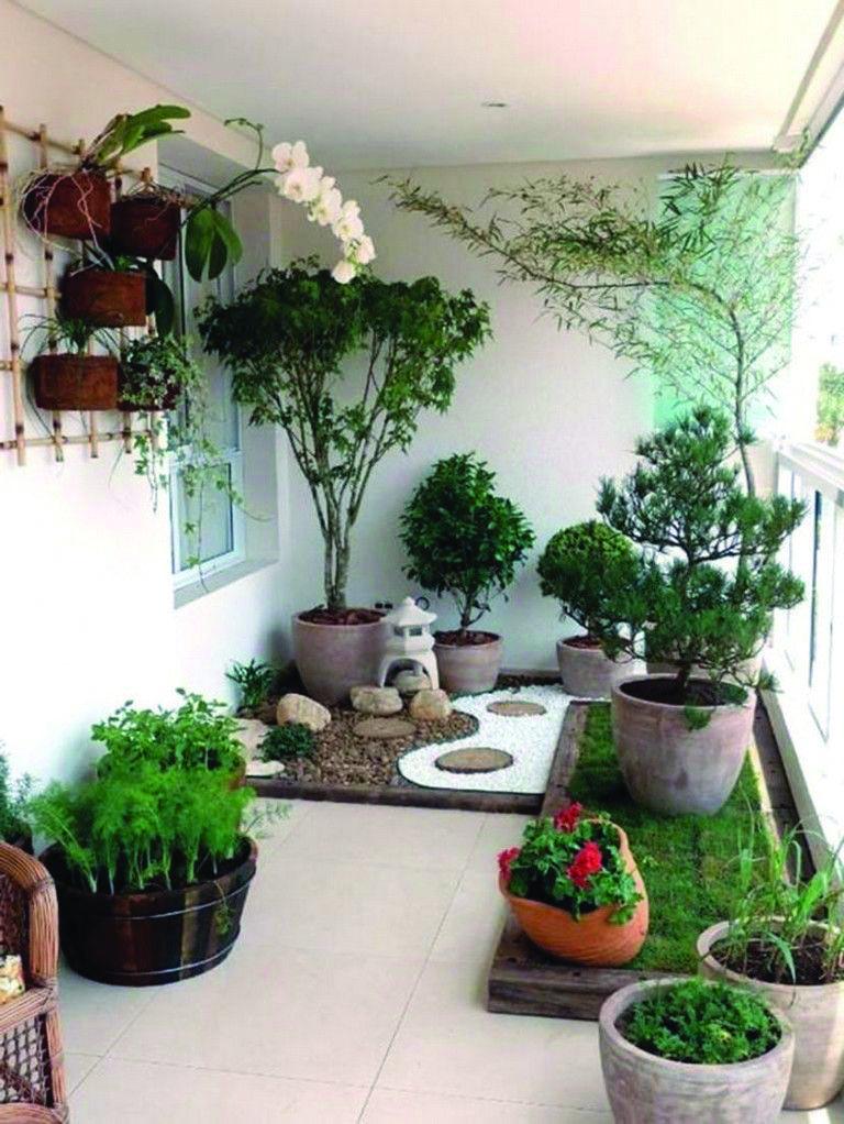 Fascinating Small Apartment Balcony Garden Ideas To Refresh Your Home Indoor Landscaping Indoor Garden Apartment Garden