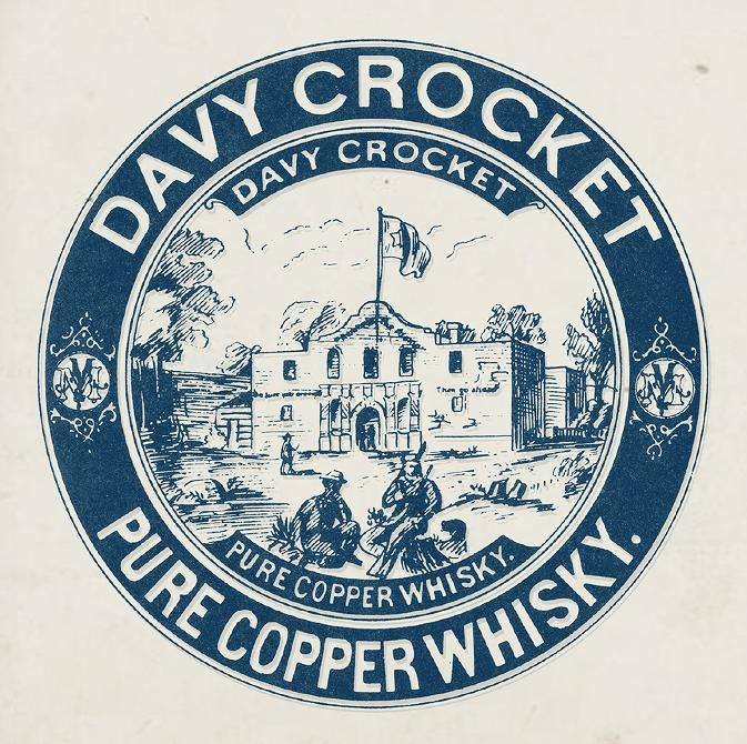 Davy Crocket Whisky label