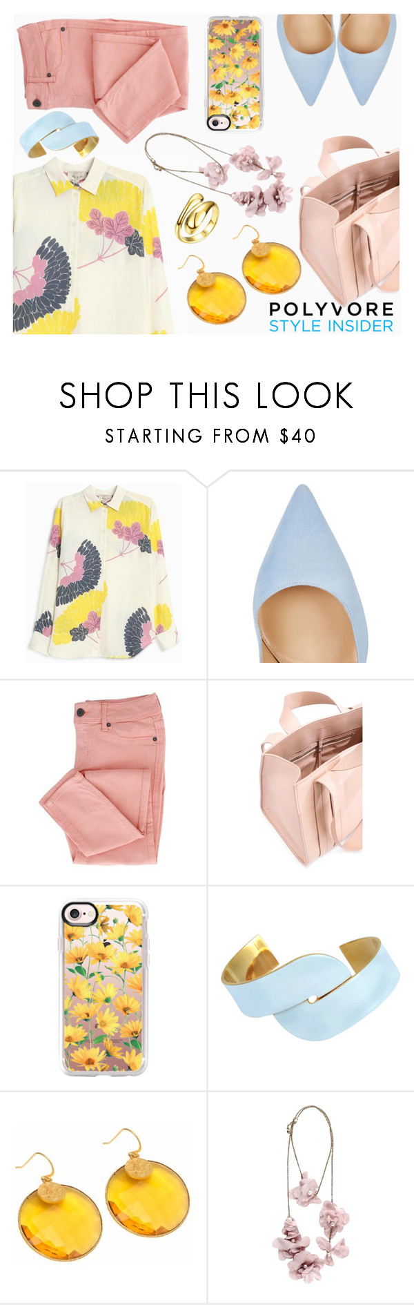 """""""Something Yellow"""" by espiecent ❤ liked on Polyvore featuring Paul & Joe, Gianvito Rossi, Corto Moltedo, Casetify, Uncommon Matters, Carousel Jewels, Lanvin, Riakoob and chic"""