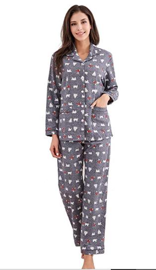 0369637850 Richie House Women s Printed Flannel Two-Piece Set Pajama Size S-XL RHW2774   softpajamaset  nightwear  womenpajama
