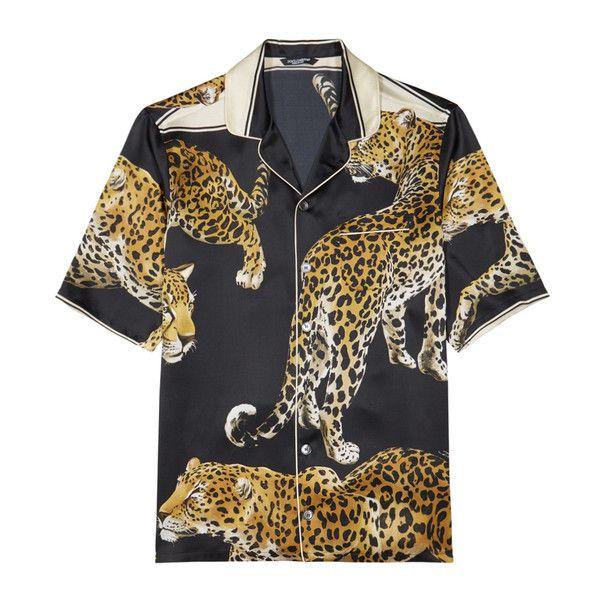 5dfcc339f124 Men's Clothing · Vintage Clothing · Dandy Style · Dolce & Gabbana  Leopard-print Silk Shirt (3.520 BRL) ❤ liked on