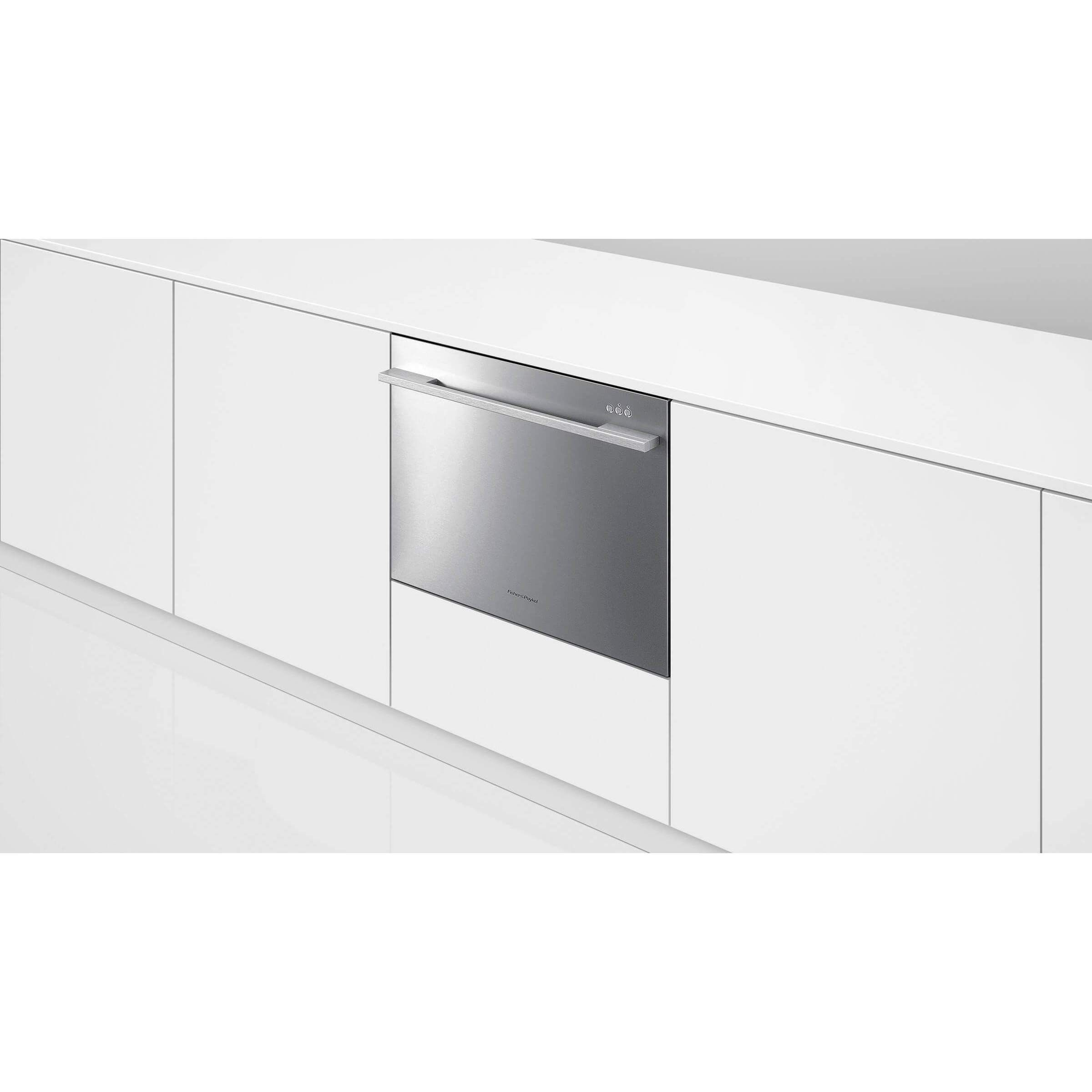 with ge dishwasher single drawer stainless interior caf hidden controls cafe dispatcher series in built
