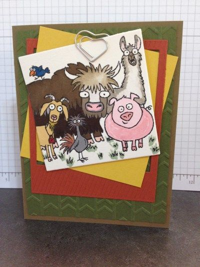 From The Herd, Hill Country Stampin', water color with markers on water color paper!