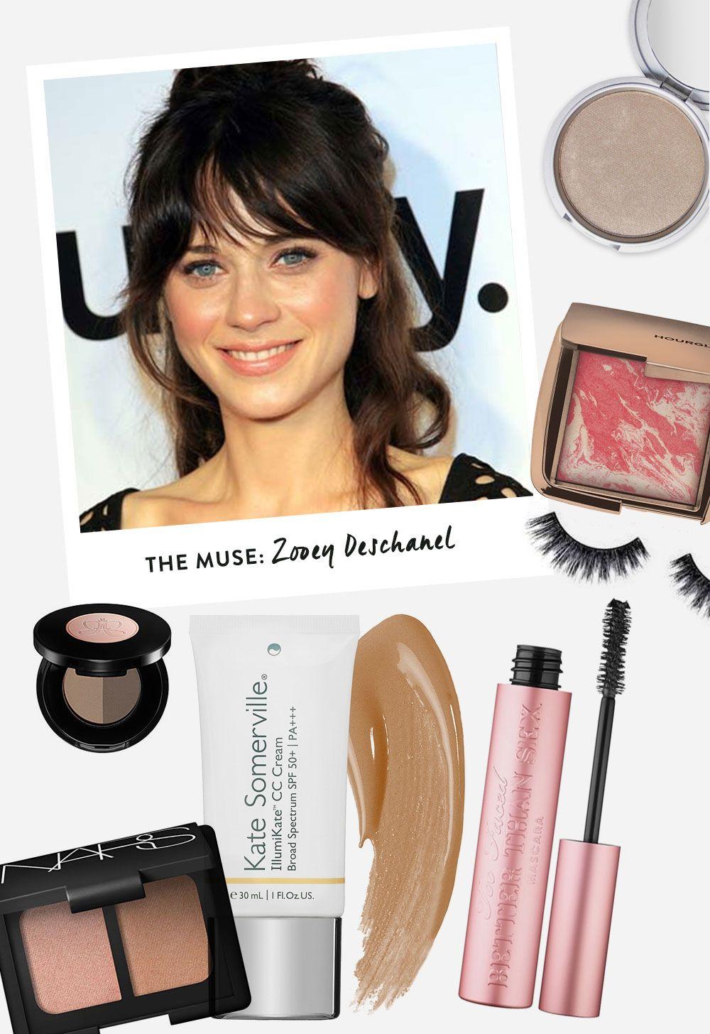 Zooey Deschanels Beauty Routine pictures