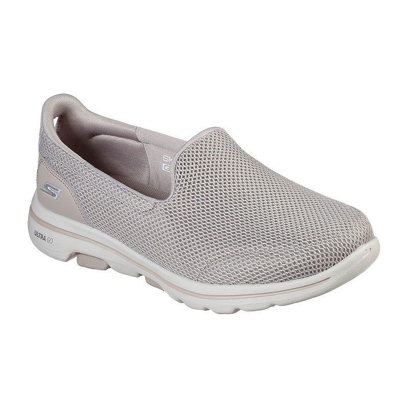 Skechers Go Walk 5 Womens Walking Shoes Slip On Wide Width Running Shoes For Men Black Leather Shoes Skechers Slip On