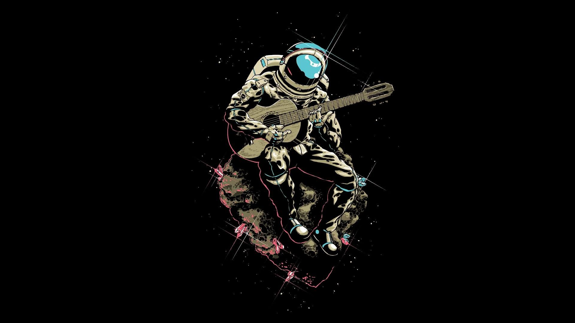 Astronaut Plays Guitar Followme Cooliphone6case On Twitter Facebook Google Instagram Linkedin Blo Astronaut Wallpaper Astronaut Tattoo Guitar Painting