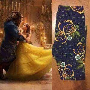 f55b606365ad7c ~~Looking for OS~~~~ Lularoe meets Disney LuLaRoe leggings beauty and the  beast #unicorns #leggings