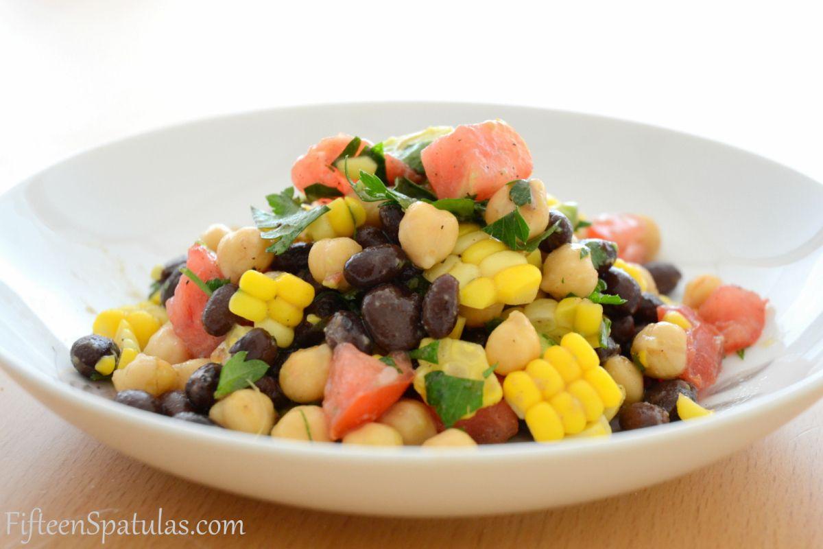 Fresh Corn and Avocado Bean Salad