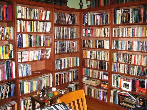 Home Office Wall to Wall Bookshelves - I need this for my attic reading  nook! - Home Office Wall To Wall Bookshelves - I Need This For My Attic