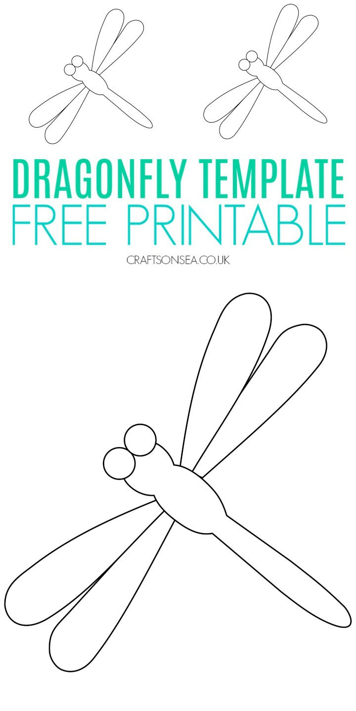 Free Dragonfly Template Printable Pdf Templates Printable Free Free Printable Crafts Flower Templates Printable Free
