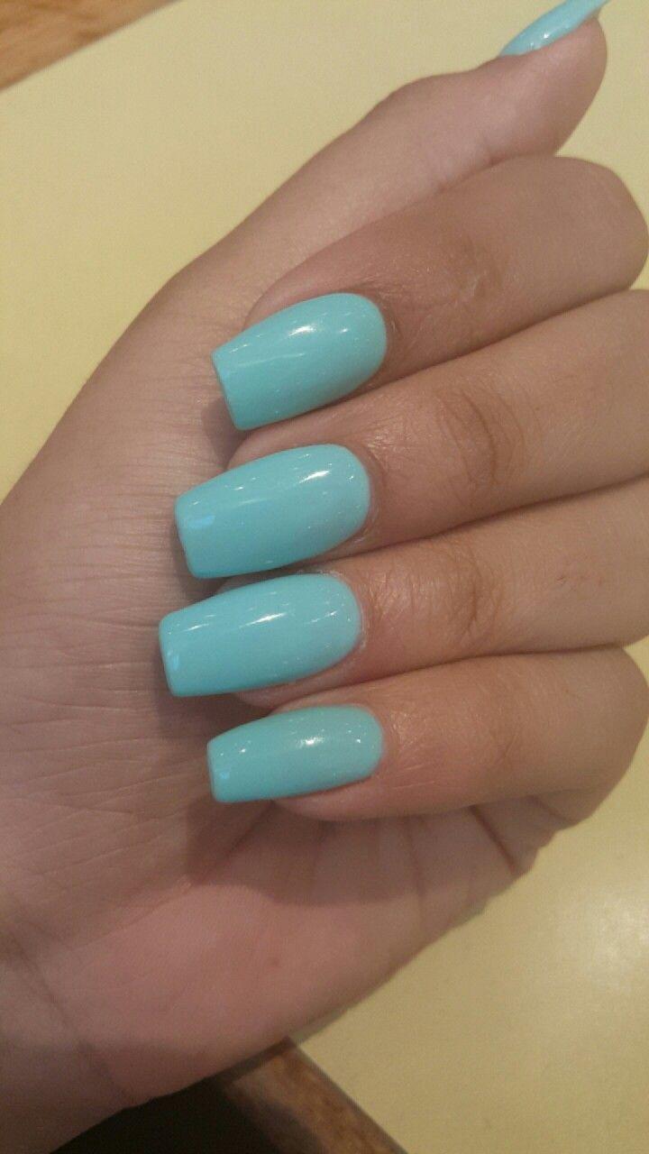 Bio Gel Coffin Nails Tiffany Blue Coffinnails Nails Naildesign Nailart Summernails Tiffany Blue Nails Nails Blue Coffin Nails