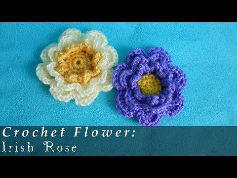 Como Tejer A Crochet Flores Crochet 3d Flower Easy Youtube