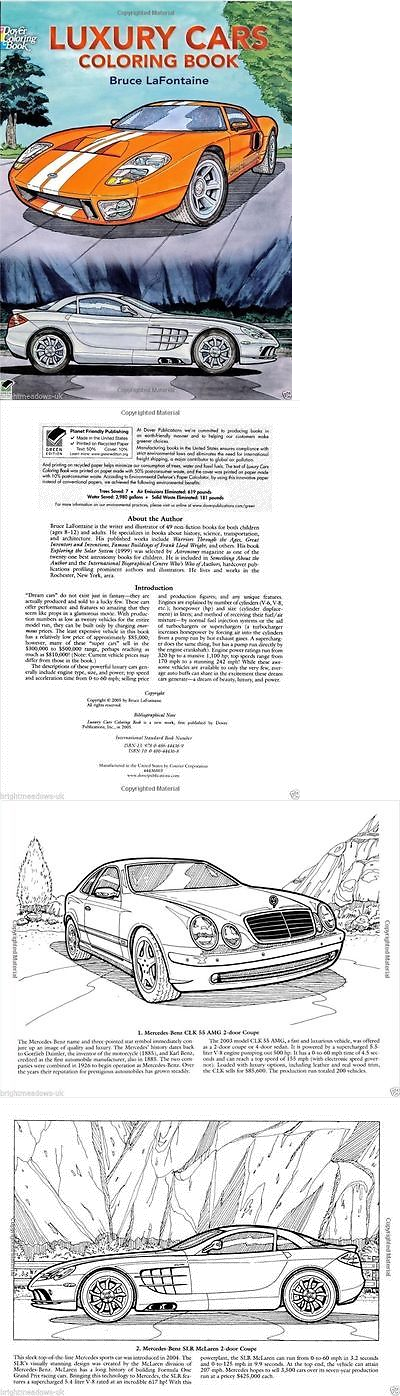 Luxury Cars Rolls Coupe Adult Coloring Book Christmas Gift Stocking Filler