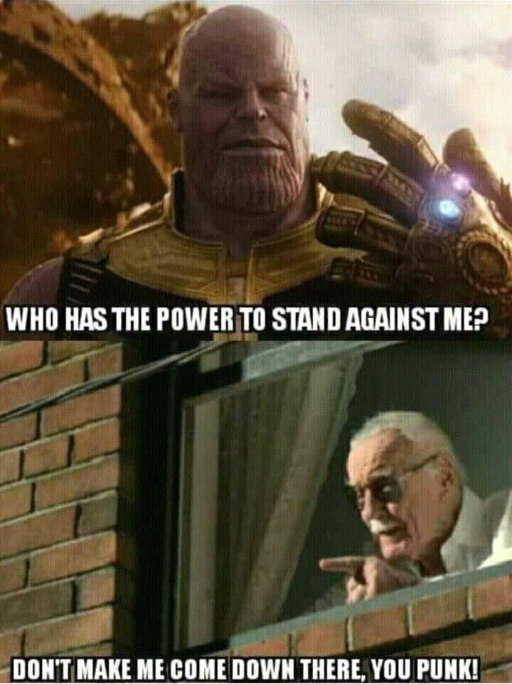 Thanos vs Stan lee   Marvel   Marvel jokes, Marvel funny ...