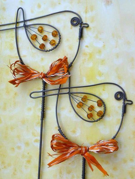 Adesivo De Coracao Para Unha ~ 16 ideias de como fazer artesanatos para decoraç u00e3o com arame More Wire art and Craft ideas