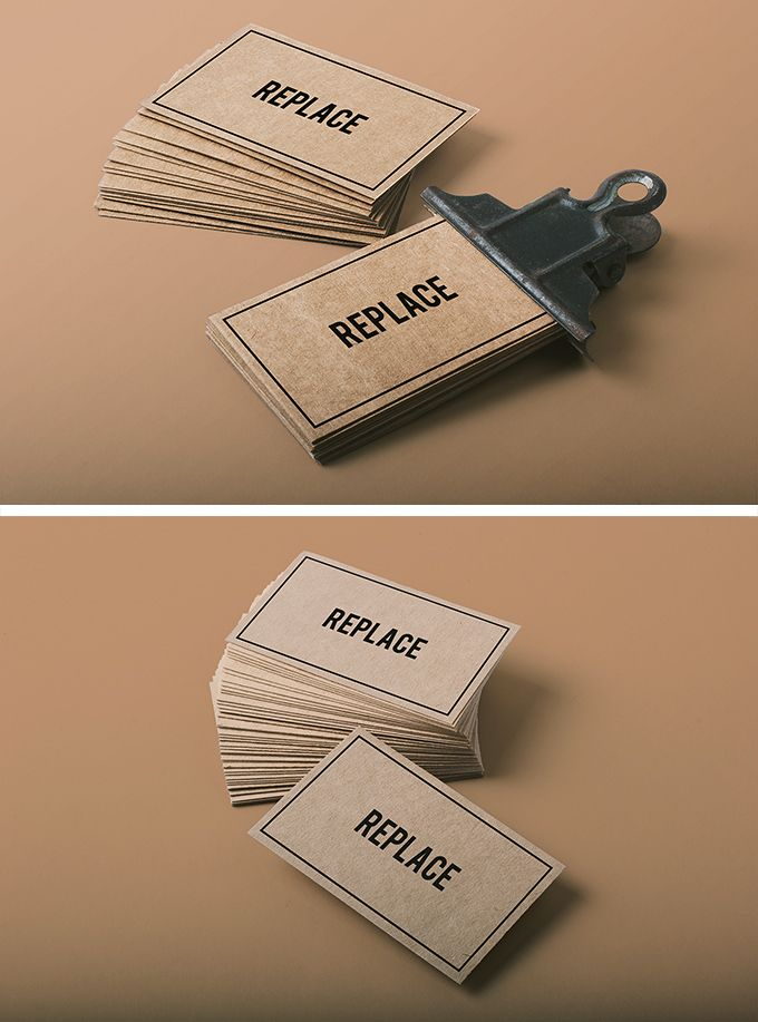 Business Card Mockup For Free Download Free Resources Pinterest