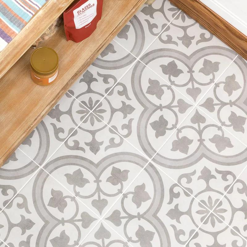 Sintra 9 X 9 Porcelain Spanish Wall Floor Tile In 2020 Patchwork Tiles Tile Floor Flooring