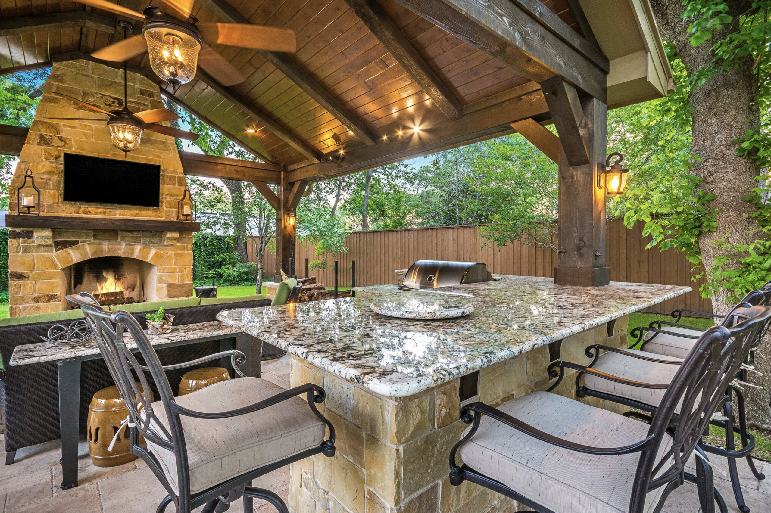 Stunning Outdoor Living Space By Texas Custom Patios Patio Patio Design Backyard Patio Designs