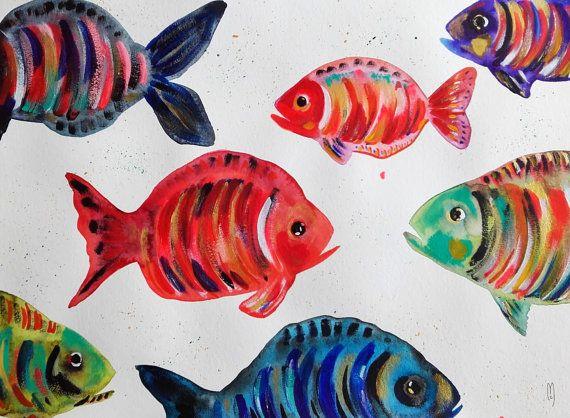 Audubon oiseaux print paruline du canada vintage for Bocal mural poisson