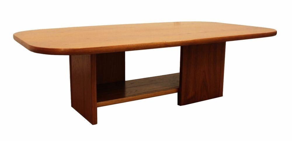 Mid-Century Danish Modern Mobler Teak Coffee Table w/ Shelf #MidCenturyModern #GangsoMobler