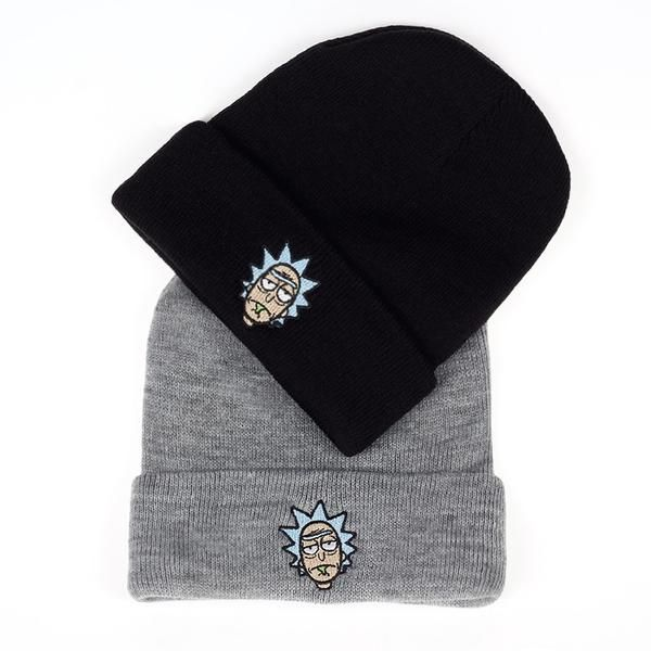 1fbd9bc7 Rick and Morty Winter Hats Rick Beanies Elastic Brand Embroidery Ski Gorros Cap  Warm Unisex Knitted