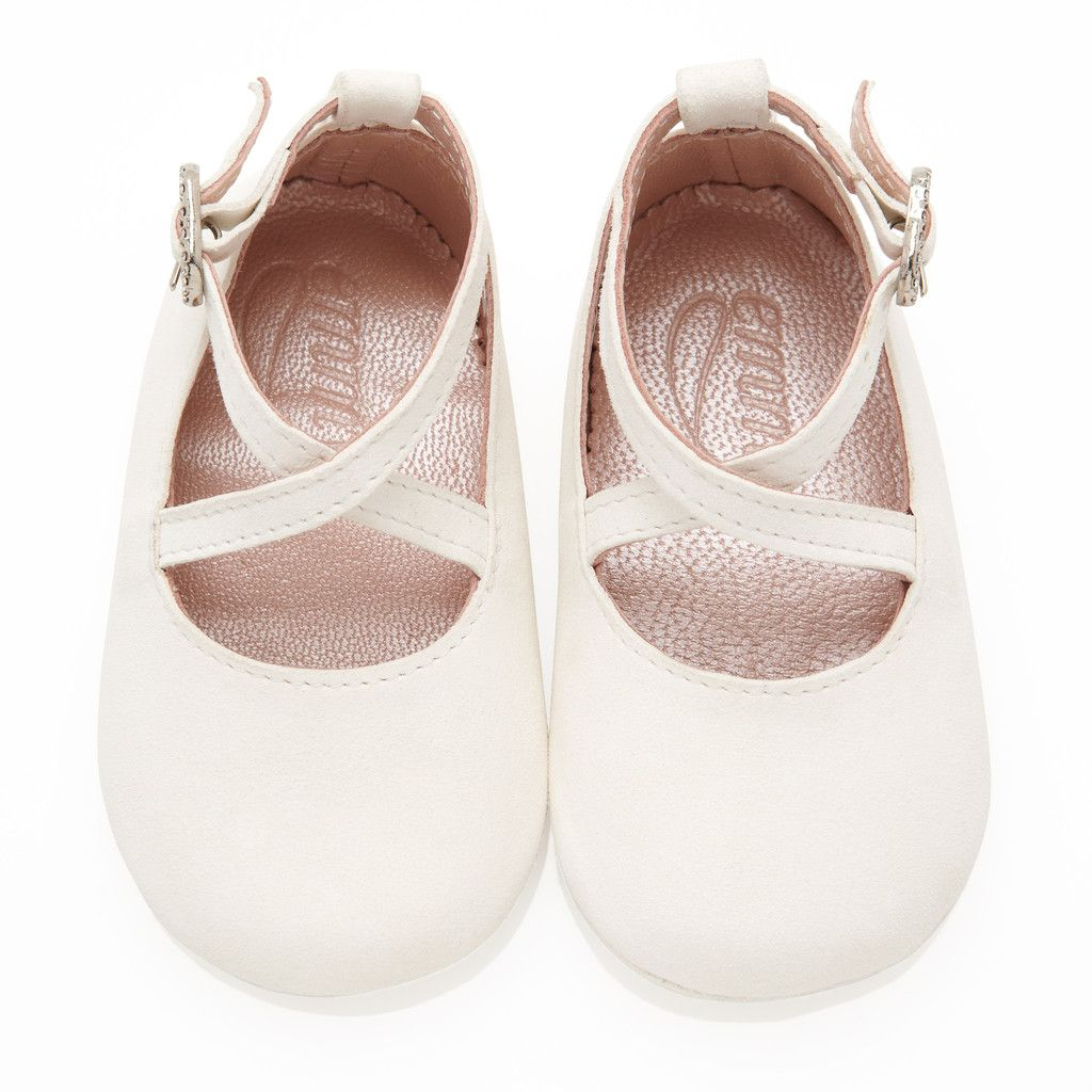 Girls wedding dress shoes  Baby Girl Shoes  Ivory  Emmy London  Emmy London Moments